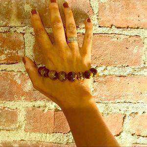 Donna DiStephano tiger eyes quartz bead bracelet